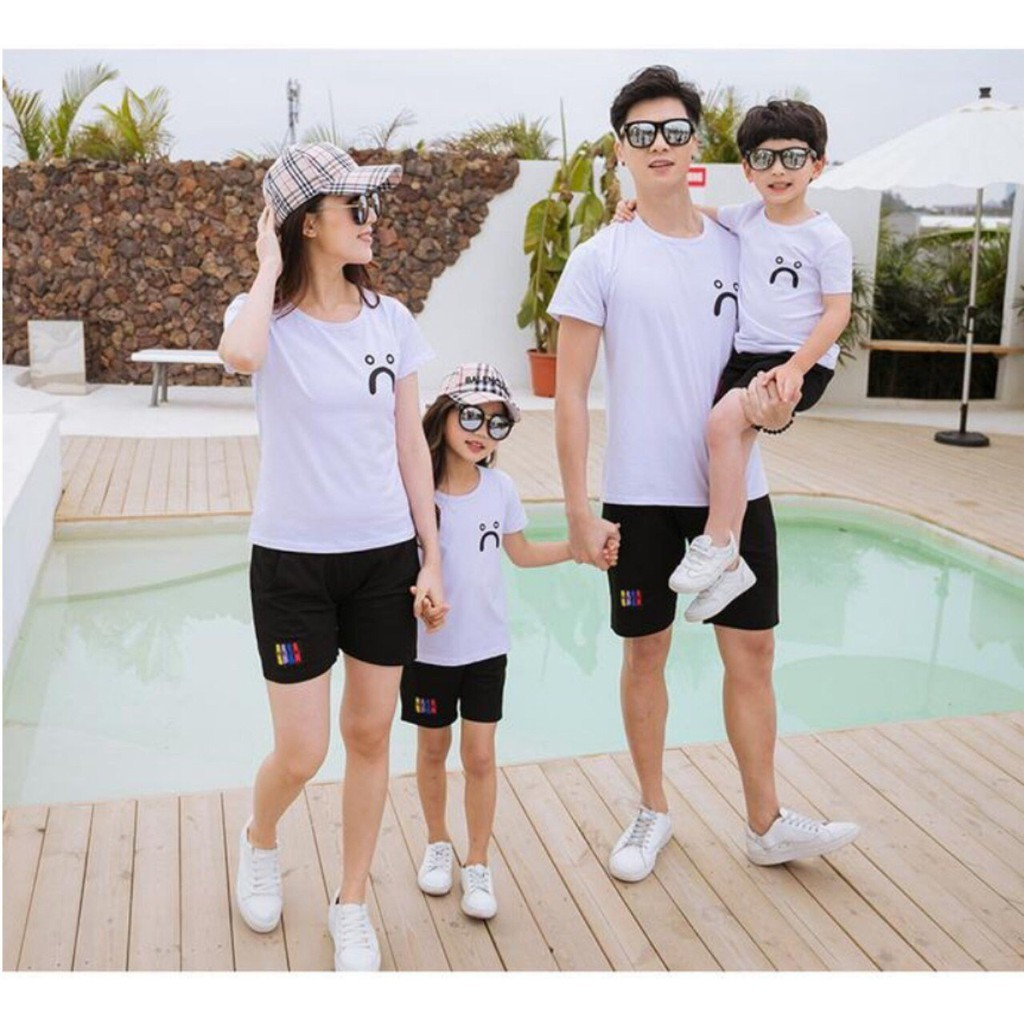 combo 3 và 4 bộ quần áo gia đình