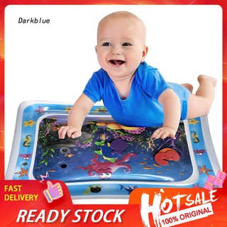 DKBL_Cartoon Inflatable Water Mat Infant Toddler Growth Stimulate Tummy Time Play Pad