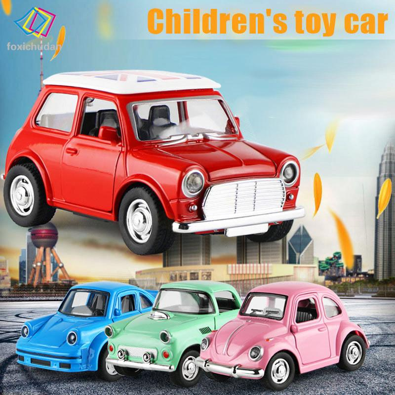 FCD 1:38 Alloy Car Pull Back Diecast Model Toy Sound Light Collection Car Vehicle Toys for Boys Gift