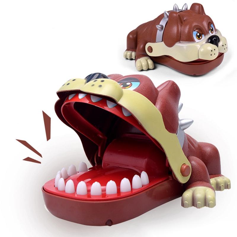 17*11cm cute Lucky Finger Dog hot sale Bulldog Bite Finger Toy Dog Game Dentist