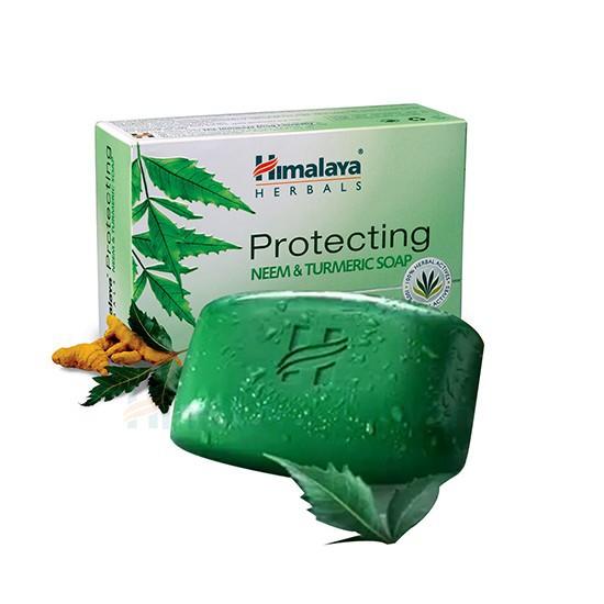 Xà phòng loại bỏ sạch mụn lưng Himalaya neem và nghệ tây 75g