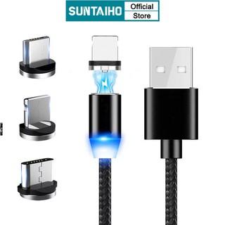 Cáp Sạc Suntaiho Tốc Độ Nhanh Có Đèn Led Cổng Micro USB Loại C Cho IPhone 11