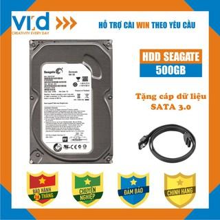 Ổ cứng HDD 500GB Seagate - Tặng cáp sata 3.0 - Hàng nhập khẩu tháo máy đồng bộ mới 98% - bảo hành 24T