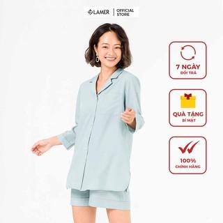 Bộ mặc nhà áo dài, quần short VIEN TRAN by Lamer O68S20Q002 (Nhiều màu) thumbnail