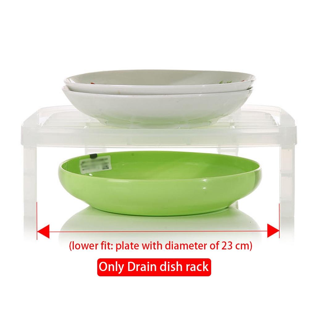 Lightweight Storage Single Layer Space Saving Antibacterial Vertical Kitchen Dish Rack