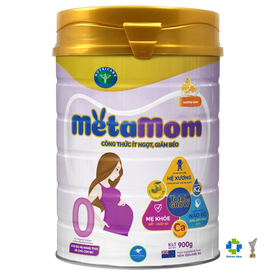Sữa bột Nutricare MetaMom dành cho mẹ bầu & cho con bú (900g)