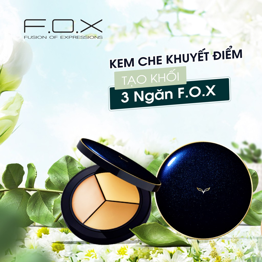 TAIWAN COSMETICS] Kem Che Khuyết Điểm, Tạo Khối 3 Ngăn FOX Completely  Concealer Plate 9.5g | Shopee Việt Nam