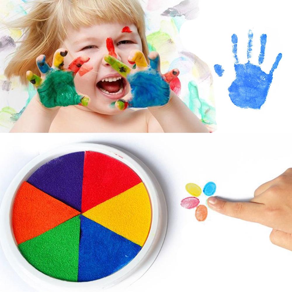 Kids Education Preschool Learning Hand Print DIY Craft Cardmaking Ink Pad