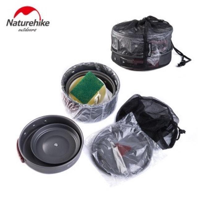 Bộ nồi nấu ăn dã ngoại NatureHike NH15T203-G 2-3 People Camping Cooking Set Dành cho 2-3 người
