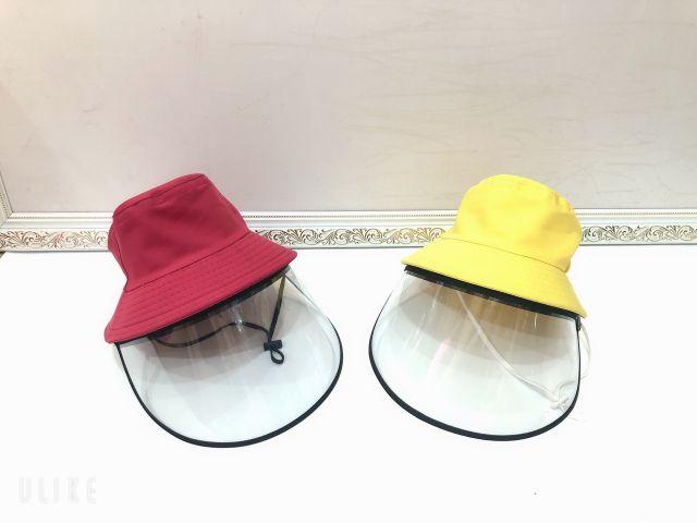Nón chống bụi   Nón chống dịch kèm kính mica   kính bảo hộ size người lớn và trẻ em Mũ Nón tai bèo bé gái
