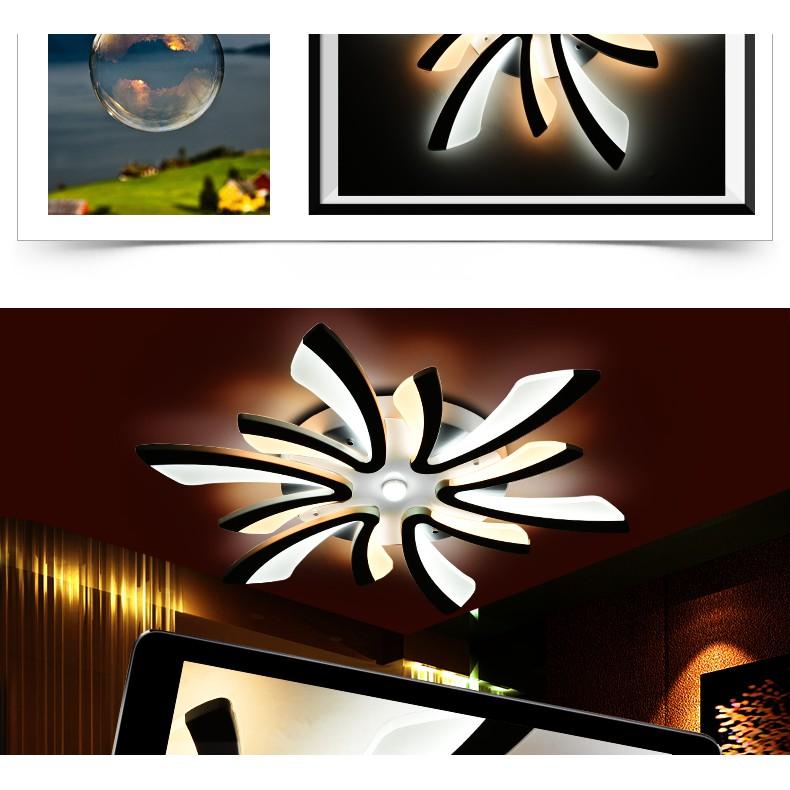 Đèn Led Ốp Trần Trang Trí Phòng Khách 5 Cánh Mã V1