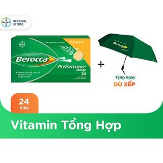 """Viên sủi bổ sung Vitamin Berocca Performance Mango 24 Viên - Tặng 1 dù Berocca giá chỉ còn <strong class=""""price"""">16.800.000.000đ</strong>"""