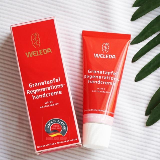 Sale - Kem dưỡng da tái tạo da tay hữu cơ chiết xuất từ lựu Weleda Granatapfel Regenerationshandcreme