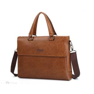 Túi xách da công sở JEEP BULUO – T02 cao cấp vừa laptop 15inch, túi đeo quai, túi đựng laptop, túi thời trang công sở,