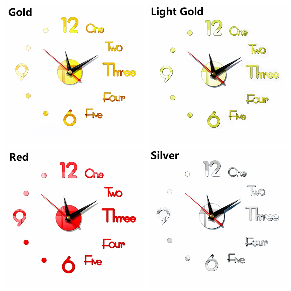 ROW Modern Style DIY Bedroom Home Decoration Living Room 3D Wall Clock