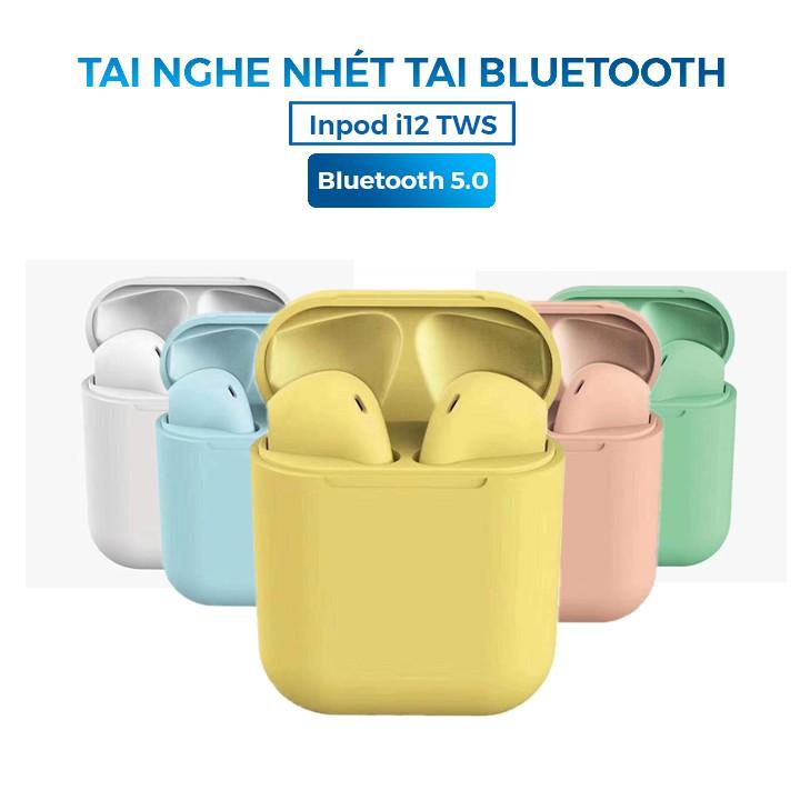Tai Nghe Bluetooth + Đốc Sạc i12 TWS 5.0 - Có cảm ứng