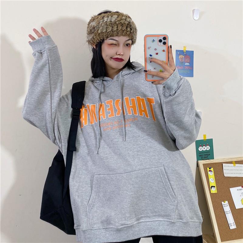 Áo Hoodie Nam/Nữ form rộng tay dài Hàn Quốc có mũ(kèm ảnh thật)