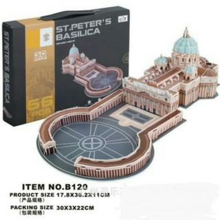 ( Hàng ORDER ) – Mô hình xốp st.peter's basilica loại trung