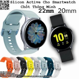 Dây Silicon Active Cho Smartwtch 20MM 22MM - Chốt Thông Minh