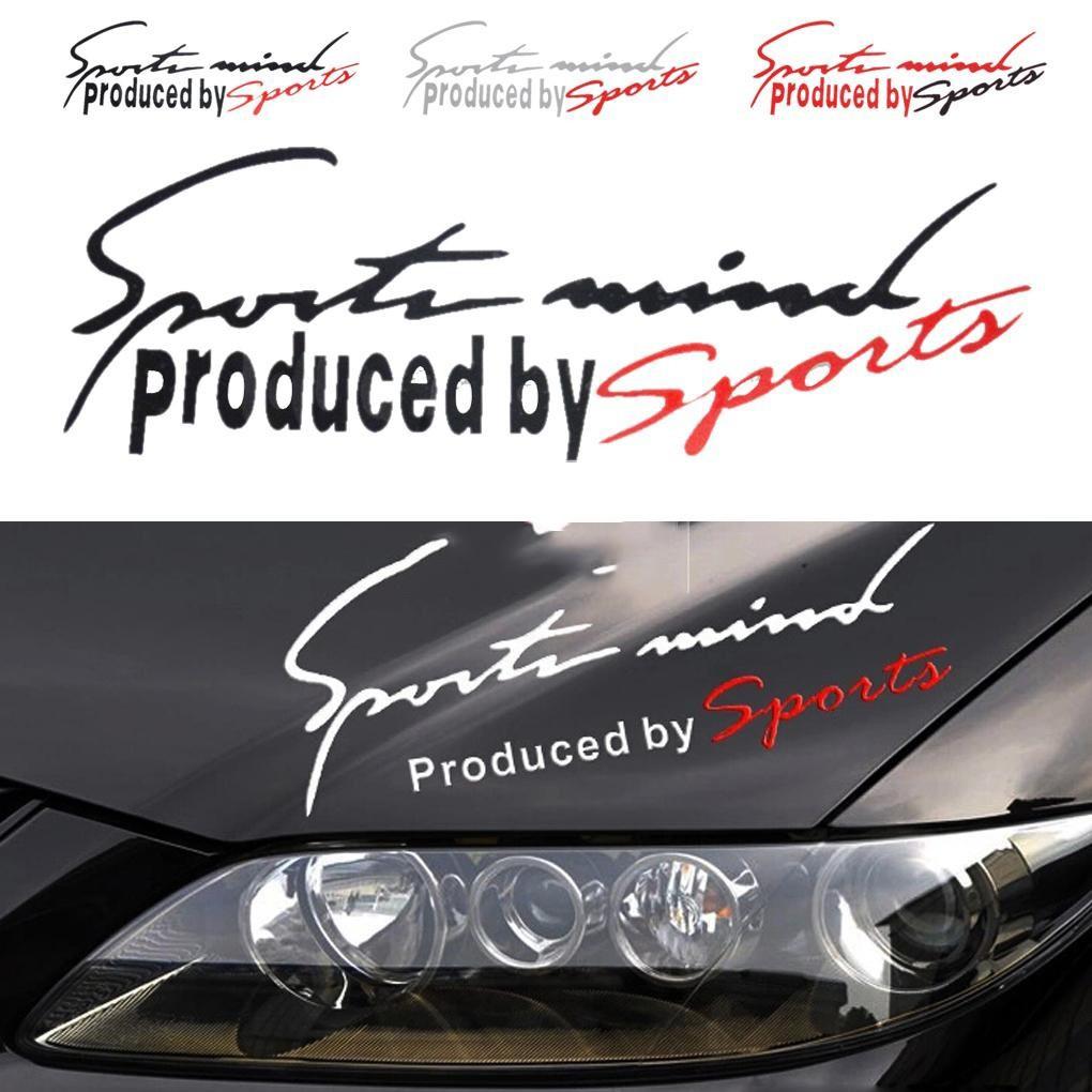 Tem dán decal Sport mind prodeced by Sports xe hơi ô tô 31x11 cm - Better Car