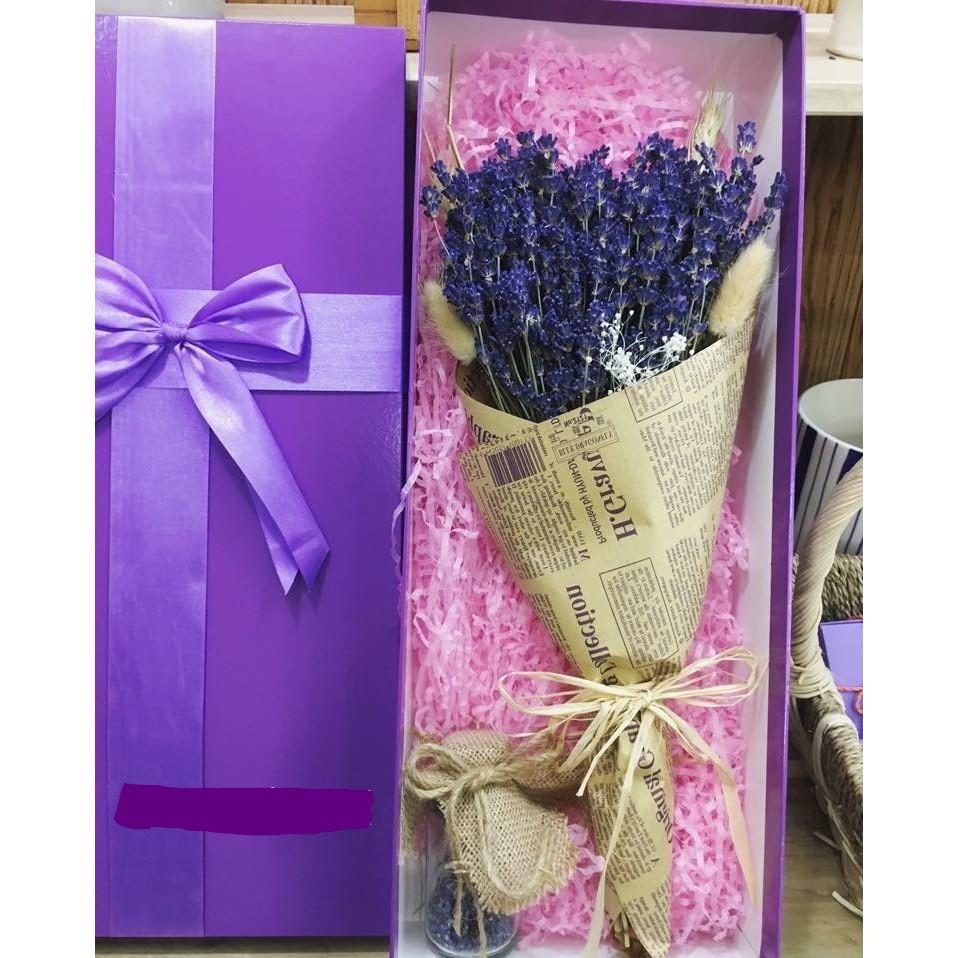 Set Hộp Hoa khô Lavender Pháp 250 nhành kèm nụ hoa Lavender cao cấp |  Shopee Việt Nam