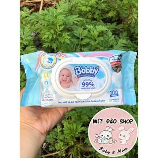 Khăn ướt Bobby 100 tờ - hàng chính hãng thumbnail