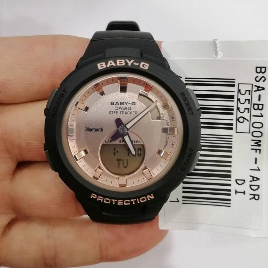Đồng hồ Casio Nữ Baby G BSA-B100MF-1ADR chính hãng Bảo hành 5 năm Pin trọn đời
