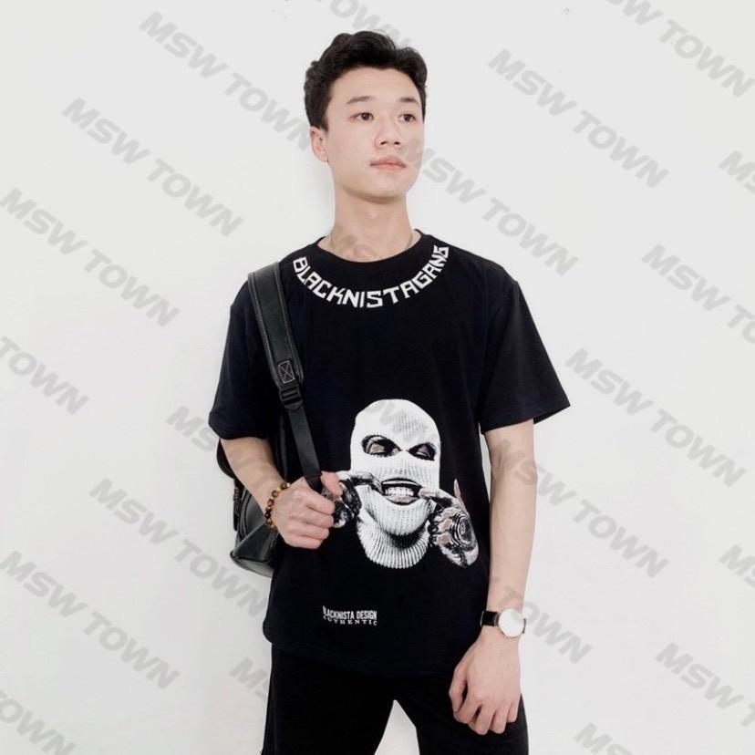 Áo thun cotton BLACKNISTAGANG , áo T Shirt tay lỡ nam nữ unisex , MSW Town
