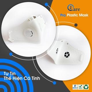 Khẩu trang nhựa đa năng 1Care Pro lọc bụi mịn PM5.0, kháng nước chống nắng 100%. Khẩu trang nhựa màu trắng tinh khôi thumbnail