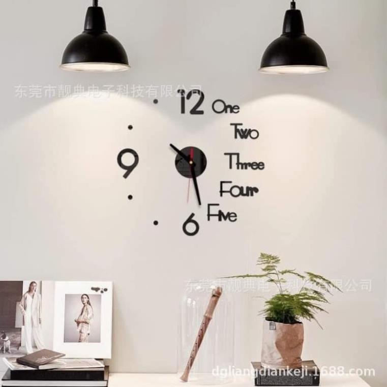 Đồng hồ dán tường decor sang chảnh trang chí phòng