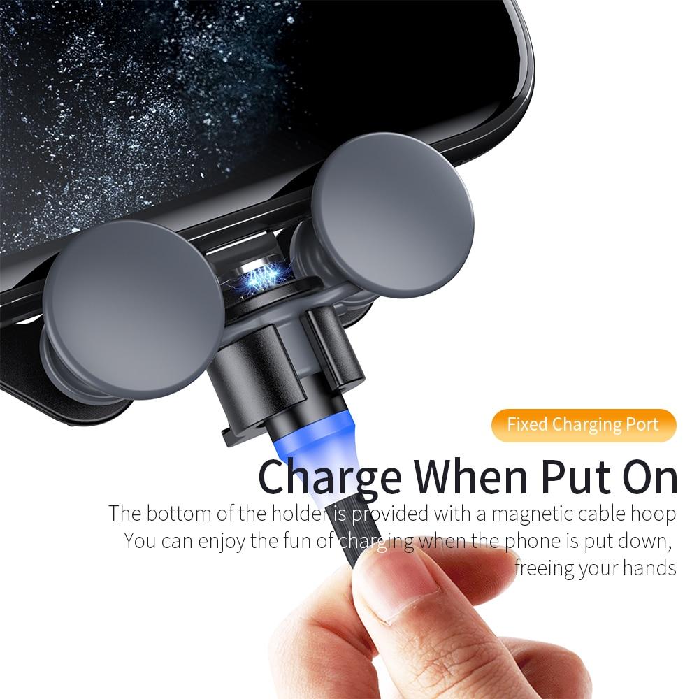 Giá Đỡ Điện Thoại Essager Cho iPhone Xiaomi Mi Trọng Lực Gắn Ô Tô Thông Gió Đa Năng Gập Được
