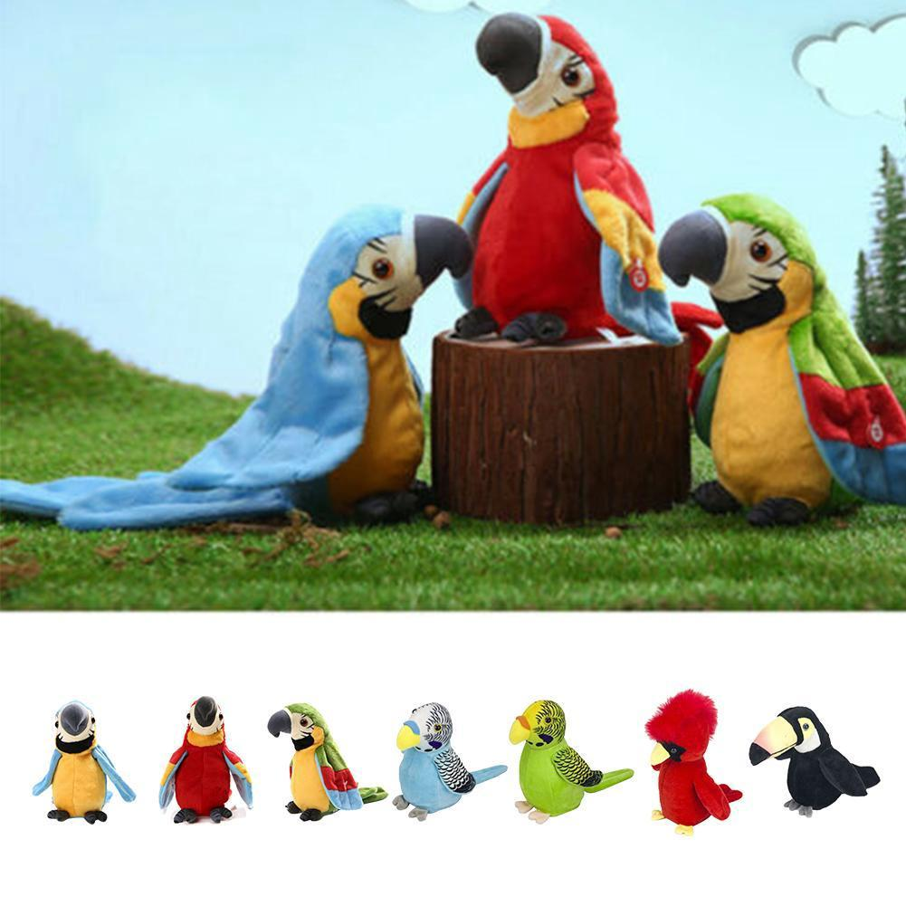 Simulation Parrots Toys Plush Macaw CuteTony Parrots Toy Kids Birthday Gift