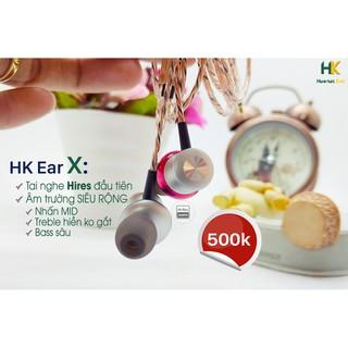 [Mã 208ELSALE hoàn 7% đơn 300K] Tai nghe Thủ công HK Ear X, HiRes Audio, dây HiFi, Có mic - Handmade King thumbnail
