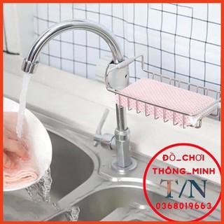 Giá Inox Để Miếng Rửa Bát Gắn Vòi Nước nhân tiện Lợi chắc chắn
