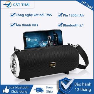 Loa Bluetooth HF-F666 công suất 5W*2 âm thanh HiFi, công nghệ không dây TWS kết nối 2 loa F666 cùng 1 lúc, nhiều màu sắc