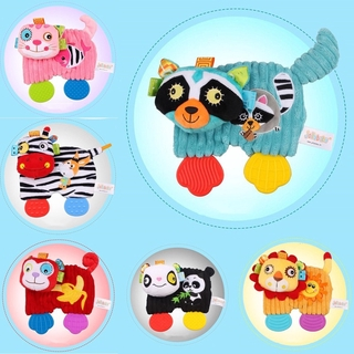 Baby Stuffed Plush Animal Pacify Dolls Appease Towel with Teether Hand Puppet Early Development Kids Children Toys