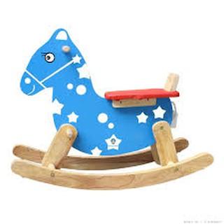 Ngựa gỗ bập bênh misa cho bé IQ06- Sản xuất Việt Nam có hình thật