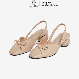 Giày Cao Gót Nữ giayBOM Mũi Vuông Gót Tròn Cao 3 cm GB00047 thumbnail