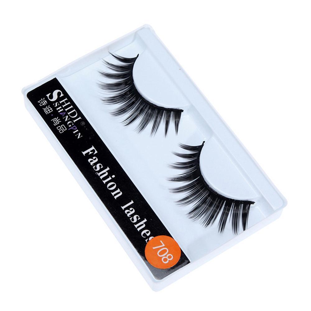 1 Pairs Long Cross Thick False 3D Dense Eyelashes Nautral Eye Lashes-6
