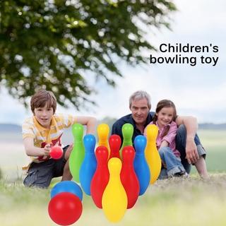 LT03-12 pieces / sets of colorful plastic children's bowling toys leisure sports entertainment sports bowling toys parent-child toys