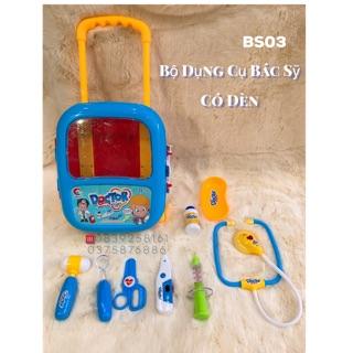 Bộ đồ chơi BÁC SĨ vali Kéo ( bộ dụng cụ có đèn)