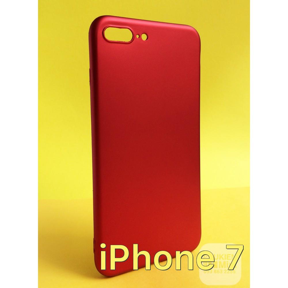 Ốp dẻo nhung đỏ iPhone 7