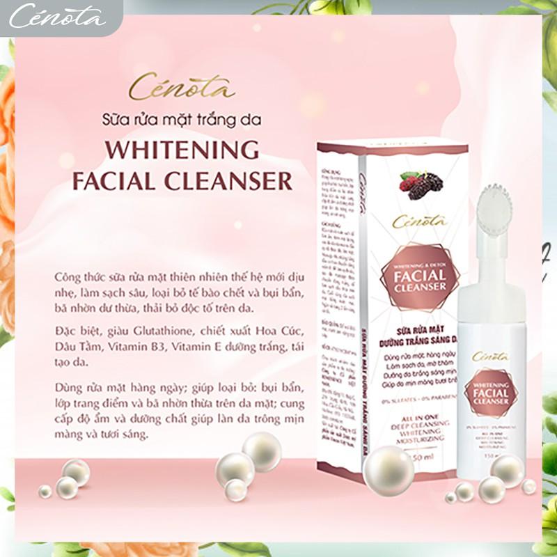 Sữa rửa mặt trắng da Cénota Whitening Facial Cleanser 150ml, sữa rửa mặt trắng da dưỡng trắng - mã C03 cénota