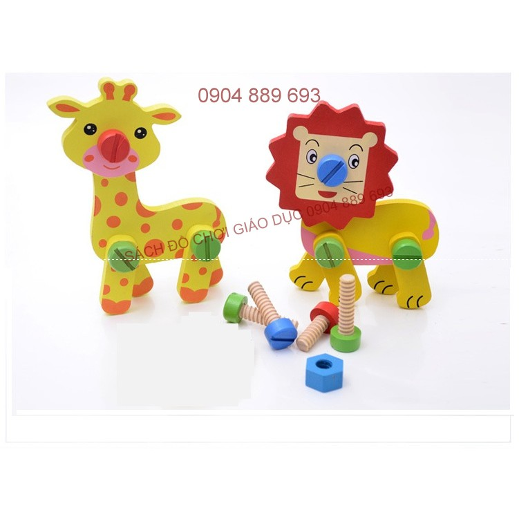 Đồ chơi vặn ốc vít: Bộ lắp ghép con vật ( hươu cao cổ và sư tử) - 2603577 , 440444059 , 322_440444059 , 95000 , Do-choi-van-oc-vit-Bo-lap-ghep-con-vat-huou-cao-co-va-su-tu-322_440444059 , shopee.vn , Đồ chơi vặn ốc vít: Bộ lắp ghép con vật ( hươu cao cổ và sư tử)