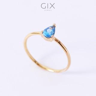Nhẫn bạc nữ cao cấp mạ vàng đính đá giọt lệ Gix Jewel SPGN03 thumbnail