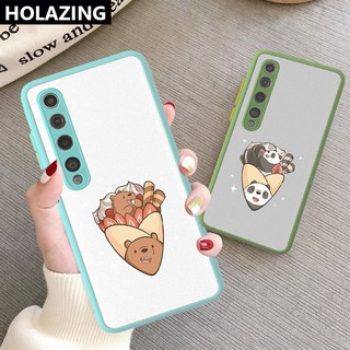 Camera Lens Protective Phone Case Xiaomi Mi 10 Pro Ultra Mi Note 10 Xiaomi Mi A3 Lite Mi9 Mi8 vỏ điện thoại We Bare Bears Matte Scrub PC Hard Cover Anti-Scrach Shockproof
