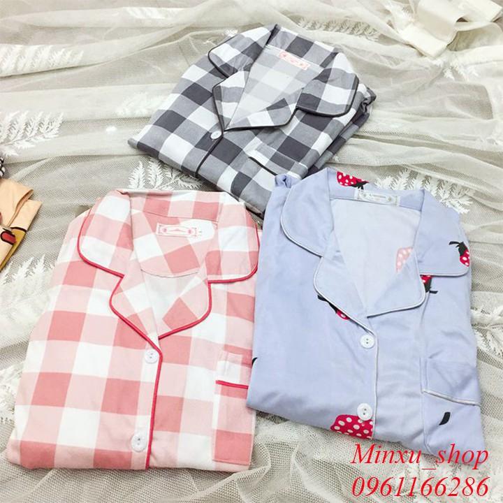 [Hàng Sẵn ] Bộ Pijama Dài Tay - Phong Cách Hàn Quốc - Sợi Tơ Sữa Cao Cấp Mềm, Mịn - Siêu Dễ Thương