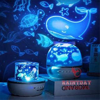 [ Hàng Xuất Nhật ] Đèn ngủ led chiếu sao cao cấp dãy ngân hà bầu trời vũ trụ đại dương 3D cho bé tự xoay trần nhà