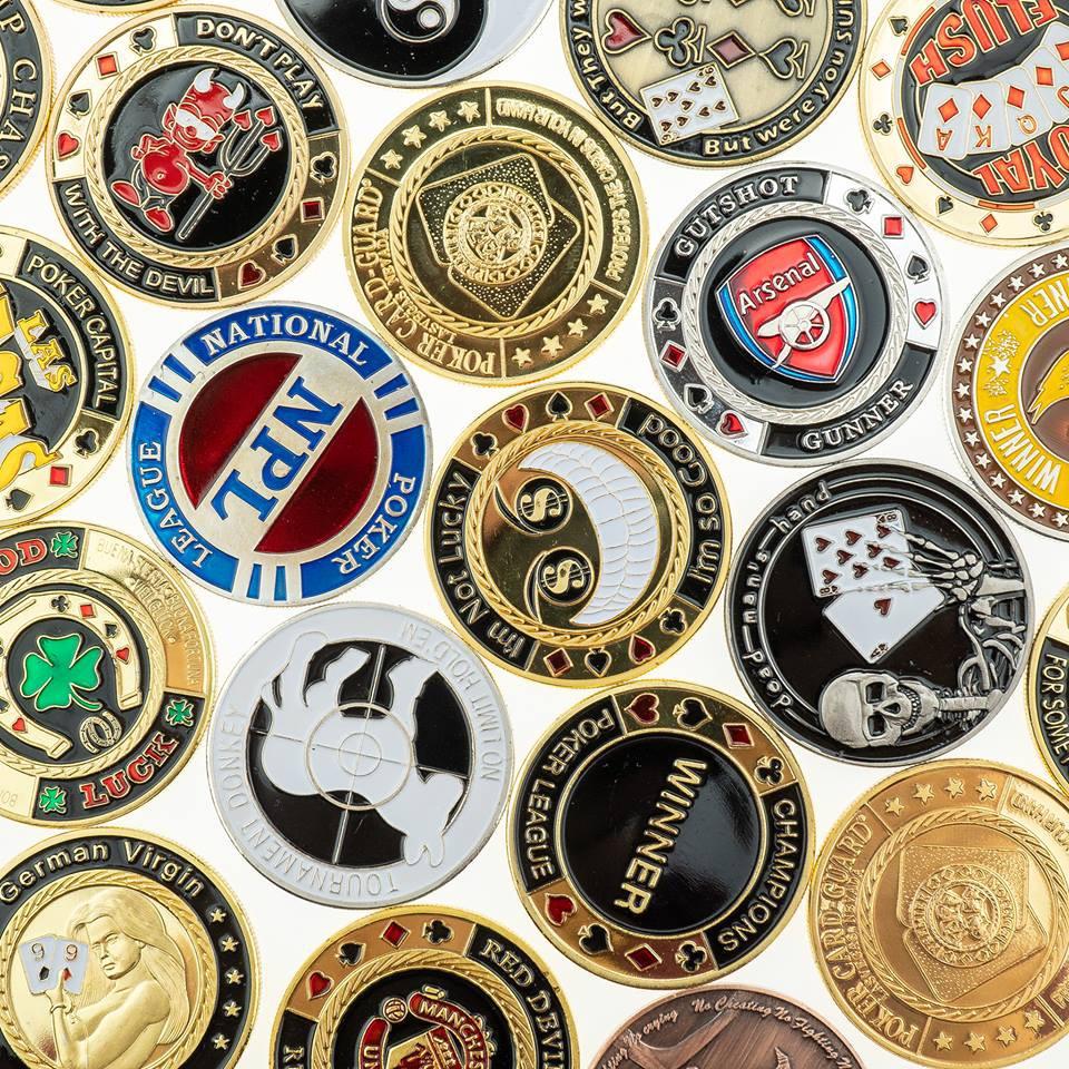 Chip guards – Đồng tiền kỷ niệm – Đồng tiền bảo vệ bài – Poker Chip Guard