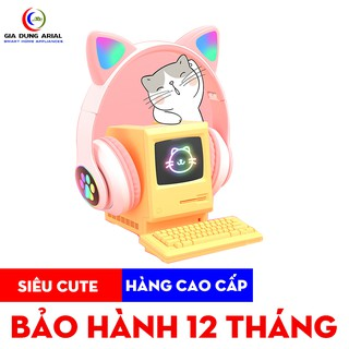 Tai nghe mèo kết nối bluetooth có đèn LED phát sáng model  BT28 hàng cao cấp bảo hành 12 tháng toàn quốc